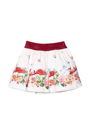 White skirt with floreal print Monnalisa kids | 15 | 3187018660A0001