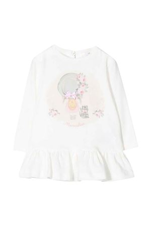 white baby girl maxi t-shirt  Monnalisa kids | 5032307 | 398603SB80020001