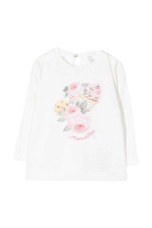 T-shirt bambina bianca Monnalisa kids Monnalisa kids   8   398604SC80020001