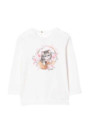 T-shirt bianca bambina Monnalisa kids | 8 | 398606SE80020001