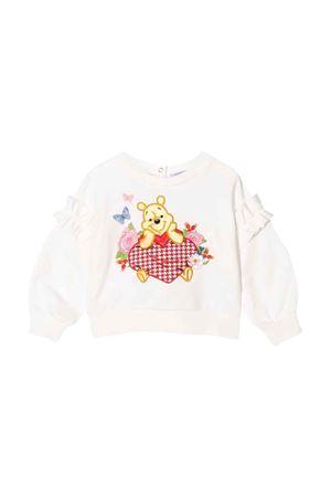 Winnie baby girl white sweatshirt  Monnalisa kids   -108764232   398608RC80180001