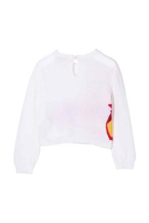 Maglione bianco neonata Monnalisa kids | 7 | 39860980640001