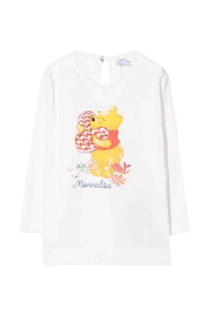 T-shirt bianca neonata Monnalisa kids   8   398616PB80020001