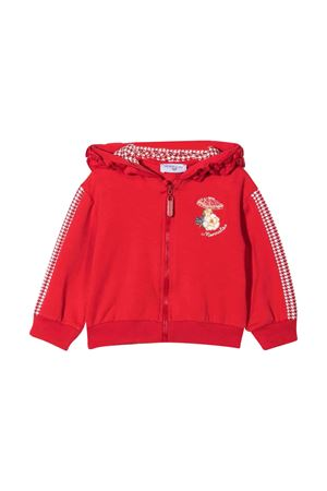 red newborn sweatshirt  Monnalisa kids   -108764232   398803RC80180043