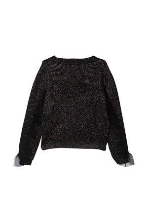metallic black teen sweater Monnalisa kids | 7 | 49861180675084T