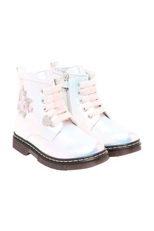 silver combat boots  Monnalisa kids | 12 | 83800387070011