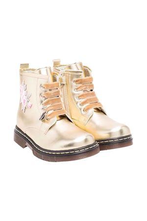 Gold combat boots Monnalisa kids | 12 | 83800387070072
