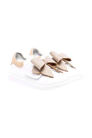 White / gold sneakers Monnalisa kids | 12 | 83800587090172