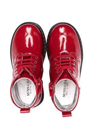 Monnalisa kids red combat boots  Monnalisa kids | 12 | 83800987110043