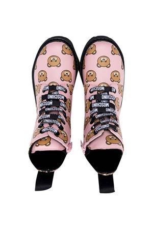 pink combat boots MOSCHINO KIDS | 90000020 | 689213