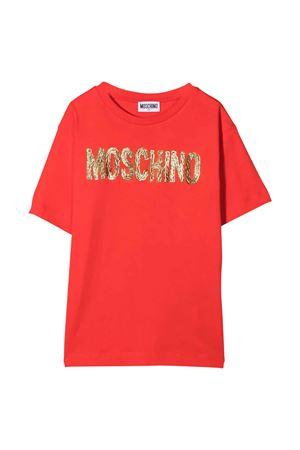 unisex red maxi t-shit MOSCHINO KIDS | 5032307 | H6M02XLAA1050842