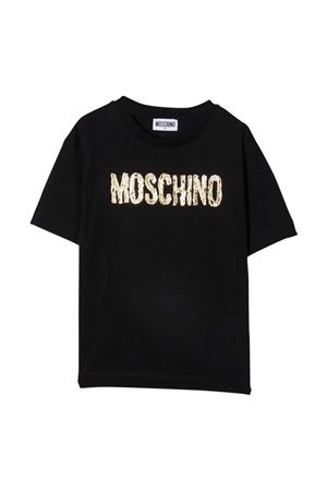unisex black maxi t-shirt  MOSCHINO KIDS | 5032307 | H6M02XLAA1060100