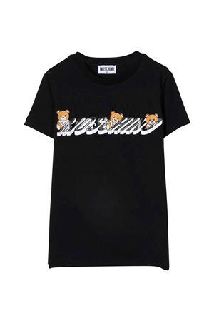 unisex black t-shirt  MOSCHINO KIDS | 8 | H8M02SLBA1960100