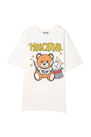 Moschino kids unisex white t-shirt  MOSCHINO KIDS | 5032307 | HVM02XLBA2210063