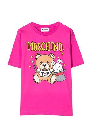 unisex fuchsia t-shirt  MOSCHINO KIDS | 5032307 | HVM02XLBA2250323