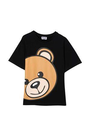 unisex black t-shirt  MOSCHINO KIDS | 8 | HXM02XLBA1260100