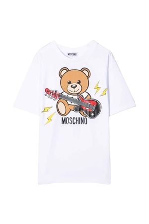 unisex white maxi t-shirt  MOSCHINO KIDS | 5032307 | HZM02XLBA1210101