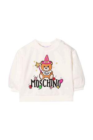 Felpa bianca neonata MOSCHINO KIDS | 7 | MDF02CLDA2210063
