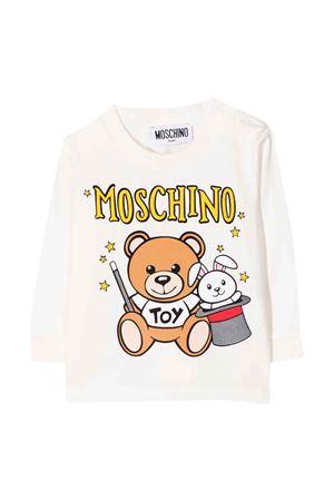 newborn white sweatshirt  MOSCHINO KIDS | 8 | MMO002LBA2210063