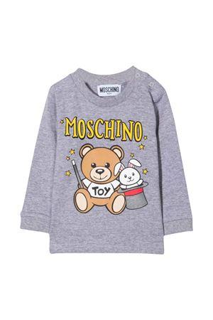 newborn gray sweatshirt  MOSCHINO KIDS | 8 | MMO002LBA2260901
