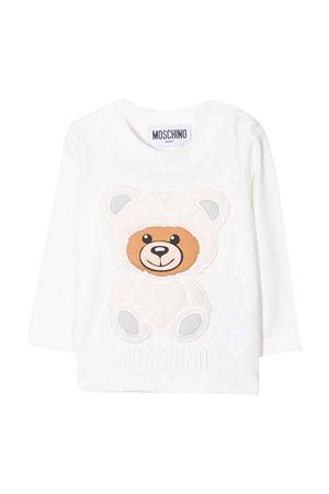newborn white sweatshirt  MOSCHINO KIDS   8   MMO005LBA0110063
