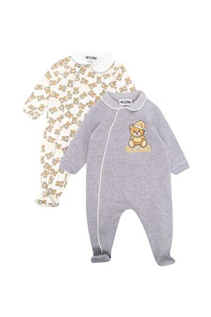 Couple of gray newborn rompers  MOSCHINO KIDS   75988882   MMY02ELDB6160901