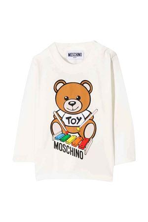 unisex white T-shirt MOSCHINO KIDS | 8 | MTO005LBA2210063