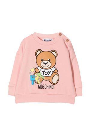 newborn pink sweatshirt  MOSCHINO KIDS | 7 | MUF03QLDA3151647