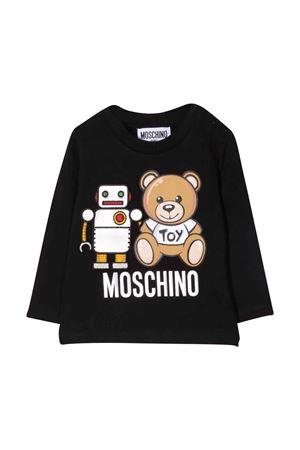 T-shirt nera unisex MOSCHINO KIDS | 8 | MUO005LBA1160100