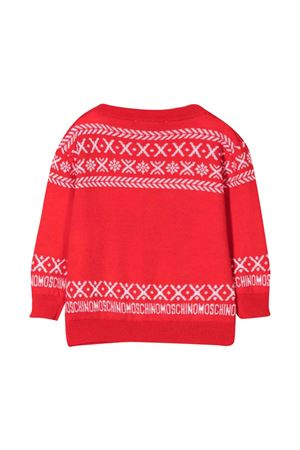 Maglione rosso unisex MOSCHINO KIDS   7   MUW00NLHE1650109