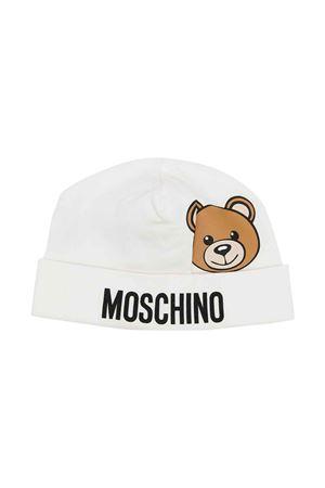 Berretto bianco neonato MOSCHINO KIDS | 75988881 | MUX03WLDA1410063