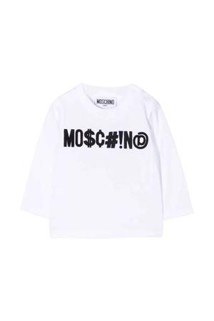 unisex white sweatshirt  MOSCHINO KIDS | 8 | MYO005LBA2410101