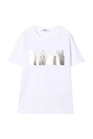 T-shirt bianca unisex MSGM KIDS | 8 | MS027677001