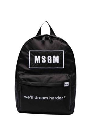 Black backpack MSGM KIDS   5032345   MS027729110
