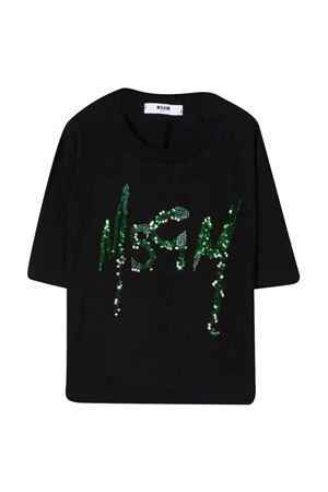 black t-shirt  MSGM KIDS   8   MS027799110