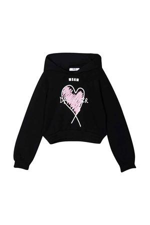 black teen sweatshirt  MSGM KIDS   -108764232   MS027813110T
