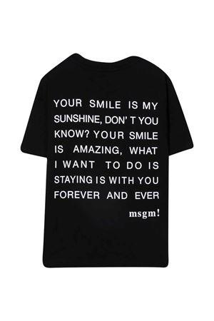 black teen t-shirt  MSGM KIDS   8   MS027940110