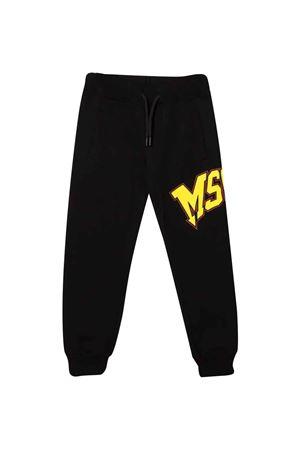 Pantaloni neri unisex MSGM KIDS | 9 | MS028719110/28