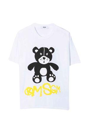 T-shirt bianca unisex MSGM KIDS | 8 | MS028725001
