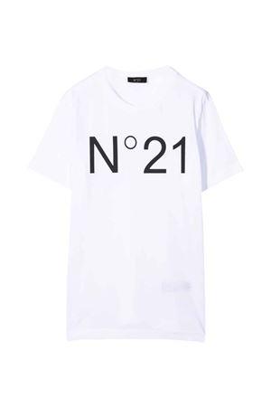 T-shirt bianca bambino N°21 | 7 | N21173N01530N100