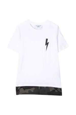 white boy t-shirt  NEIL BARRETT KIDS | 8 | 028927001