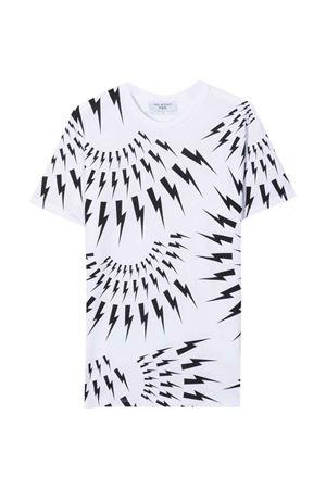 white teen t-shirt  NEIL BARRETT KIDS | 8 | 028928001T