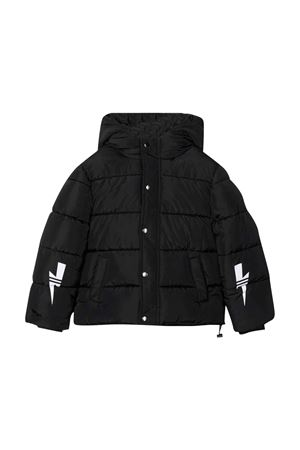 Black down jacket teen  NEIL BARRETT KIDS | 783955909 | 028941110T