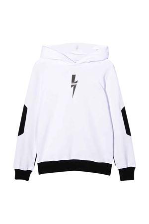 two-tone sweatshirt  NEIL BARRETT KIDS | 5032280 | 028951001/01