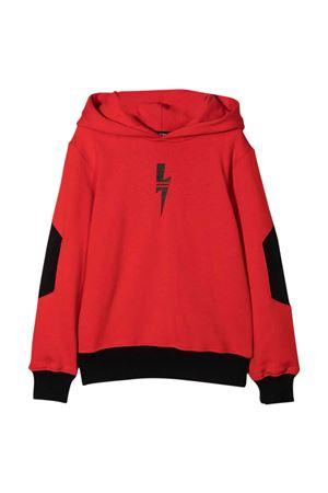 red and black two-tone teen sweatshirt  NEIL BARRETT KIDS | 5032280 | 028951040/15T