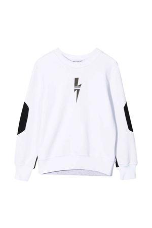 Neil Barrett Kids two-tone sweatshirt  NEIL BARRETT KIDS | -108764232 | 028954001/03