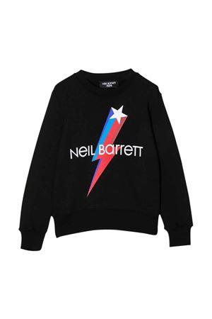 black sweatshirt  NEIL BARRETT KIDS | -108764232 | 028960110