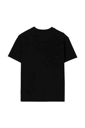 T-shirt nera con logo bianco off-white kids | 8 | OBAA002F21JER0011001