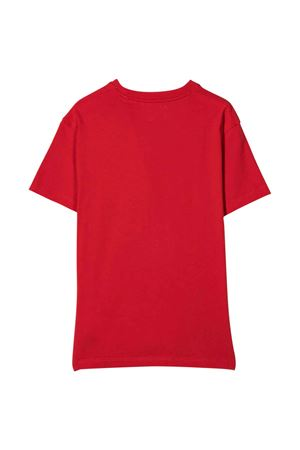 T-shirt rossa con logo bianco off-white kids | 8 | OBAA002F21JER0012501