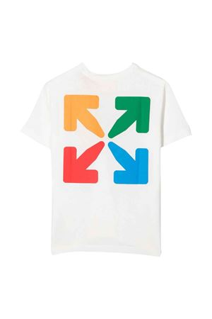 T-shirt bianca con stampa multicolor off-white kids | 8 | OBAA002F21JER0020184